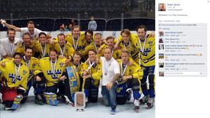 Det svenska inlinehockeylandslaget.