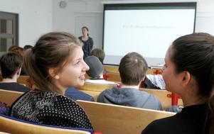 Miriam Hamberg och Lovisa Löfvenberg var två av dem som lärde sig om EU av Helena Larsson Haug.