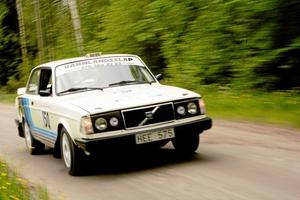 Full fart. En av specialsträckorna gick på vägen mellan Smedsjön och Reboda i Guldsmedshyttan.