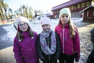 Alva Wengfelt, Thea Göransson och Filippa Pålsson.