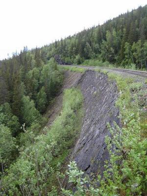 Trafikverket har kommit i gång med undersökningen av banvallen vid Stora Helvetet.
