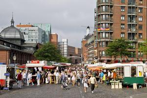 Fiskmarknaden i Hamburg.