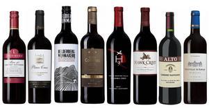 Åtta utmärkta röda viner från olika håll i världen gjorda på druvan cabernet sauvignon.