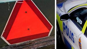 A-traktorn har tagits i beslag och föraren är misstänkt för olovlig körning.