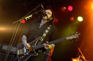 Lemmy Kilmister i Motörhead under ett framträdande på Sweden Rock 2007. Artisten dog den 28 december 2015. Arkivbild.