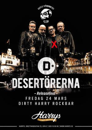 Releasefest för Desertörerna.
