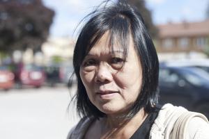 Menchu Persson, 60 år, jobbar med äldreomsorg, Fagersta: – Ingen aning faktiskt, jag läser inte så mycket.