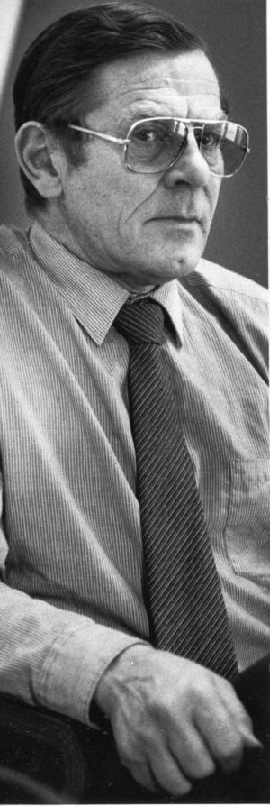 Polismannen Stig Wiklund, senare kriminalinspektör, grep den misstänkte i Västansjö.