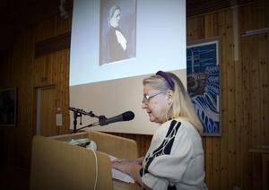 Gerd Holmboe berättade om pionjären Stina Rodenstam.