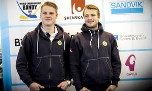Erik Pettersson och Christoffer Edlund var på plats på torsdagens presskonferens när VM-truppen presenterades.
