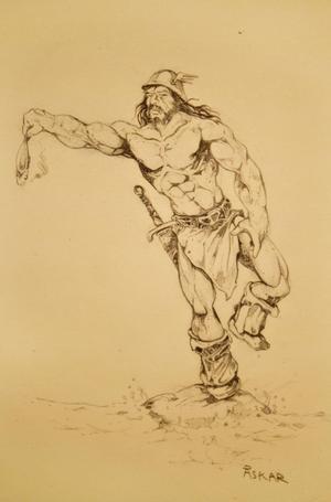 Har Åskar ritat en indian i Vilda västern?