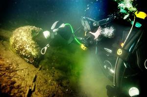 Marcus Winberg tog sig en titt på Hudiksvallsfjärdens havsbotten.