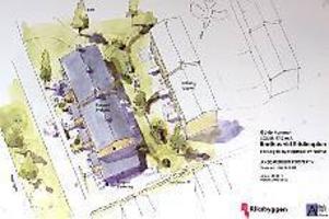 Ill: Riksbyggen Radhus mitt i stan. Riksbyggen planerar att bygga en radhuslänga med fyra lägenheter på den obebyggda tomten vid Kristinaplan i Gävle.