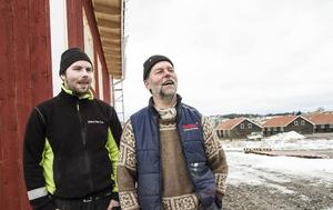 I drygt ett halvår har Svante och Anders Mohss jobbat med byggnaden.