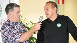 Jörgen Hjerpe, FP-sporten, och VSK-tränaren Michael Carlsson.