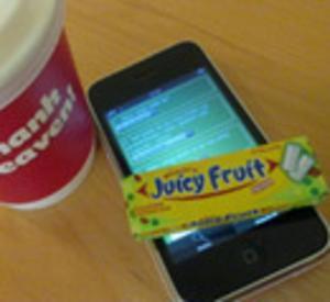 Gratis tuggummi till den som har Iphone