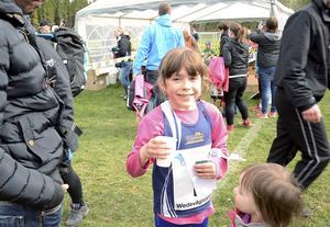 Vinnare i sin klass blev Medea Allard från Eskilstuna som också slog banrekord.