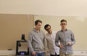 Alexander Björklund, Wasim Hassouna och Nils Eklöf Johansson har tagit fram en egen produkt.