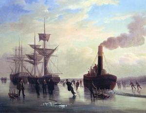 Stugsund midsommaren 1867 bjöd på skridskois!