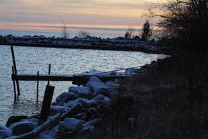 Här vill Bengt-Åke och Leif Berglin samt Sven-Erik Norlin bygga tre sjöbodar.