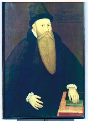 Olaus Bellinus (1545-1618). Vasaskolans rektor 1567-1571. Senare kyrkoherde i Ockelbo 1571-1581 och i Gävle 1581-1589. Biskop i Västerås 1589-1618.