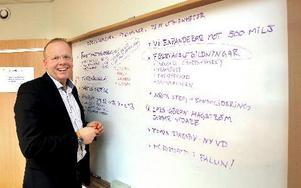 Yrkesakademins vd Tomas Ringsby hoppas kunna bygga en fullstor fotbollshall i Falun. Foto: Curt Kvicker