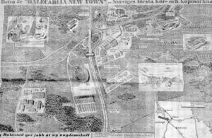 """""""Dalecarlia New Town"""" – ett uppslag i Expressen 1963 av Magnus Gerne"""