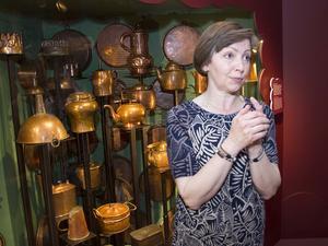 Gunilla Hedenblad berättar om vad Falu Gruvas koppar kunde användas till.