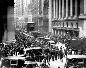 Börskraschen 1929, New York.