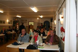Närmare 30 personer hade samalts till tisdagskvällens möte med bygderådet på temat vindkraft.