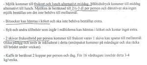 Så här står det i instruktionerna till personalen för äldrevården i Timrå.