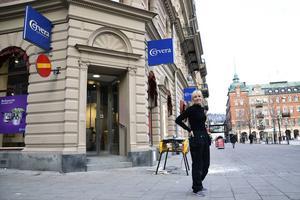 Butikslokalen vid Stora torget har tidigare bland annat inrymt klädbutiken Riva.