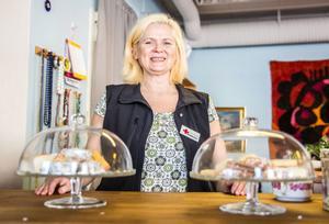 Christina Gladh är en av tre anställda på Röda Korset i Arbrå.