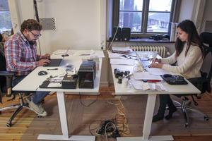 Vygantas Kirejevas och Gajane Kalatshjan med firman Zero Parallax.