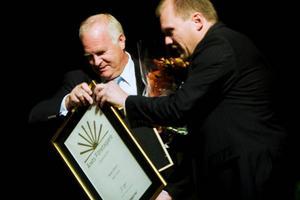 Börje Olsson får utmärkelsen Årets företagare i Östersund.