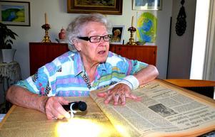 Birgit Larsson känner igen de flesta av personerna som arbetade på sjukhuset och som det står om i Sundsvalls Tidning den 10 juli 1943.
