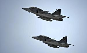 Enligt ett vittne var det JAS 39 Gripen som flög över Gävle på fredagsmorgonen.