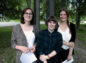 Rebecka Sernheim, Norderåsen, Erica Jonasson, Svenstavik och Emma Grönlund, Frösön, är tre av segrarna i PC:s ärliga poesitävling.