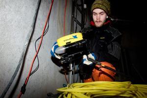 Den här roboten kan användas för inspektioner, eller för att övervaka dykaren så att inget går snett med lufttillförsel och utrustning.
