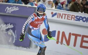 Anna Swenn Larsson skrattade glatt efter sin nionde placering i Levi. Foto: Nisse Schmidt/DT
