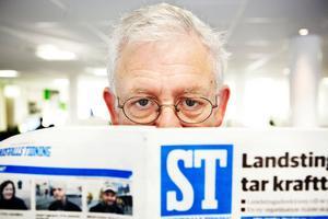 Mats Åmvall, 62, är ST:s nye chefredaktör de kommande två åren. Han är anställd med det föga avundsvärda uppdraget att spara och banta redaktionen.