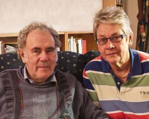 """Gösta Lind och Marianne Ersson. Marianne Ersson har fått lov av Säpo att denna vecka läsa större delar av """"sin"""" akt."""
