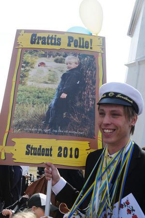 Pelle Hansson Ed, Bollnäs/Rengsjö, var en av 34 som tog studenten på fredagen.