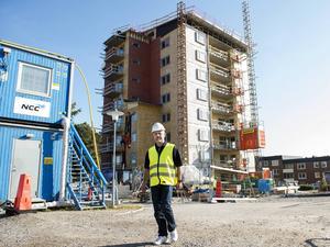 37 lägenheter ska vara klara för inflyttning i april.