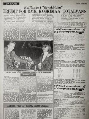 I Örnsköldsviks Allehanda den 1 november 1965 stod att läsa