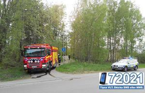 Polis och brandkår larmades till Antikvarievägen på torsdagskvällen.