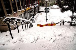 Det är inte alla trappor som underhålls vintertid.