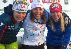 Ida Ingemarsdotter, Charlotte Kalla och Sofia Bleckur var den snabbaste trion i damernas korta klassiska lopp.