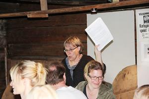 Inga-Lill Tengvall, Järvsö hembygdsförening, berättade om bakgrunden till spelet när de nya rösterna samlades på Karlsgården i måndags kväll.