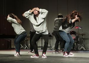 Melody Sheik, Mariella Parra och Karin Adam samt Paul Adam och Anton Borgström inledde med en dansföreställning.
